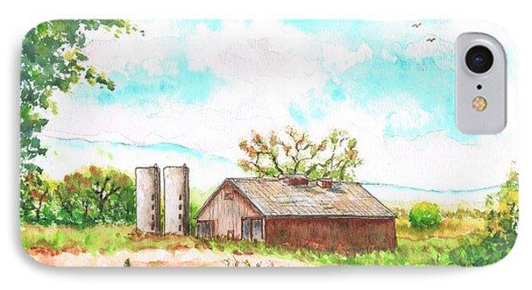 Barn In Highway 6 - Bishop - California IPhone Case by Carlos G Groppa