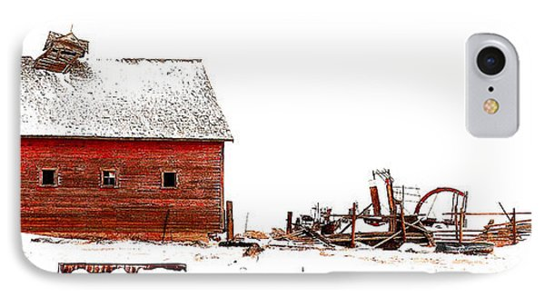 Barn In The Snow IPhone Case by Steven Reed