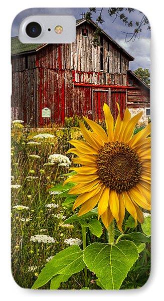 Sunflower iPhone 7 Case - Barn Meadow Flowers by Debra and Dave Vanderlaan