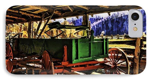 IPhone Case featuring the painting Barn by Muhie Kanawati