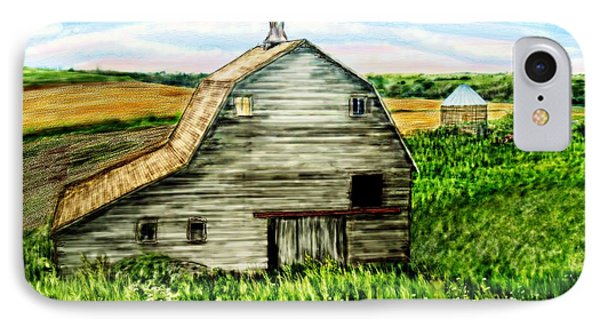 Barn Near Stanton Nebraska IPhone Case by Ric Darrell