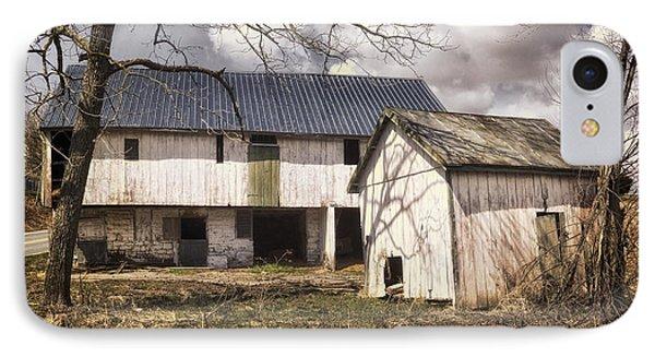 Barn Near Utica Mills Covered Bridge Phone Case by Joan Carroll