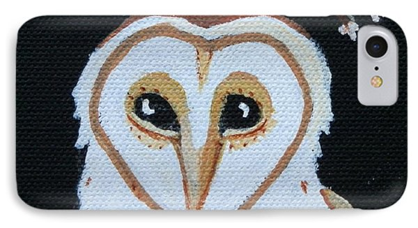 Barn Owl IPhone Case by Carolyn Cable