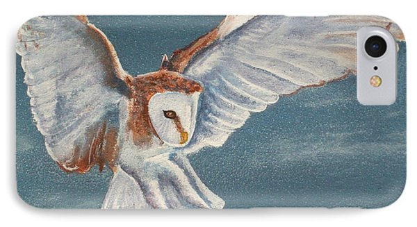 IPhone Case featuring the painting Barn Owl by Dan Wagner