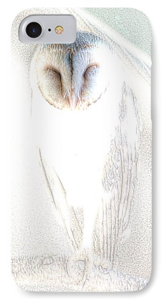 Barn Owl IPhone Case by Holly Kempe