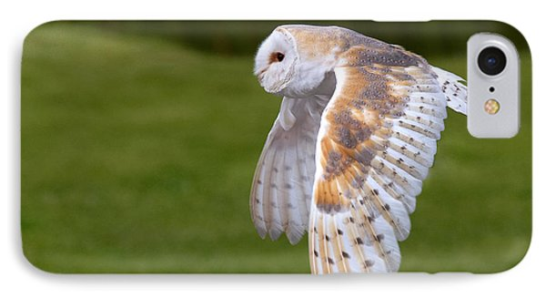 IPhone Case featuring the photograph Barn Owl In Flight by Nick  Biemans