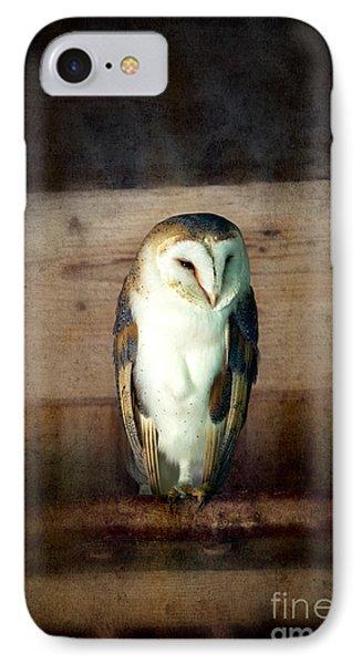 Barn Owl Vintage IPhone Case by Jane Rix