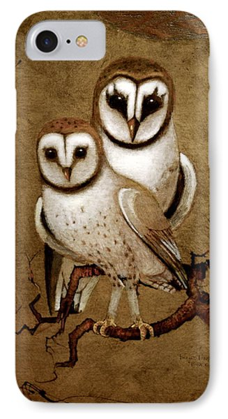 Barn Owls IPhone Case by Richard Hinger