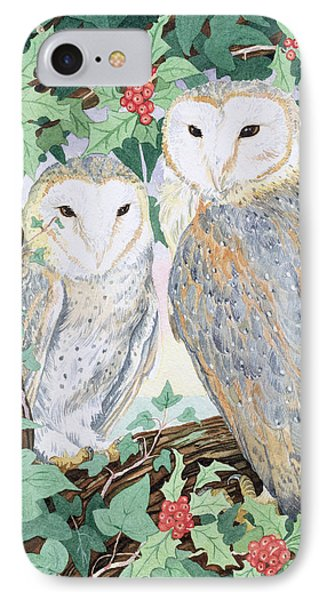Barn Owls Phone Case by Suzanne Bailey