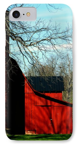 Barn Shadows Phone Case by Karen Wiles