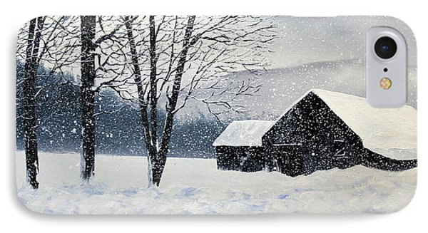 IPhone Case featuring the painting Barn Storm by Ken Ahlering