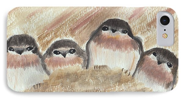 Barn Swallow Chicks IPhone Case