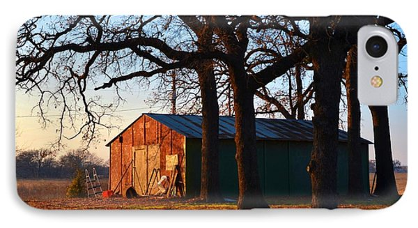 Barn Under Oak Trees IPhone Case by Ricardo J Ruiz de Porras