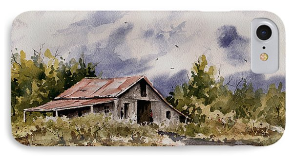 Barn Under Puffy Clouds IPhone Case by Sam Sidders
