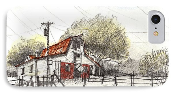 IPhone Case featuring the painting Barn Value Study by Tim Oliver