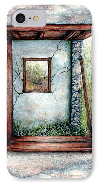 Barn Window Peering Through Time IPhone Case by Janine Riley