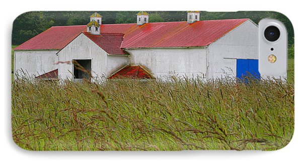 Barn With Blue Door Phone Case by Art Block Collections