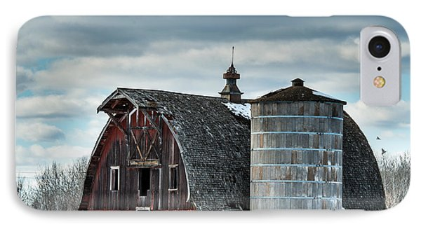 Barn With Silo IPhone Case by Paul Freidlund