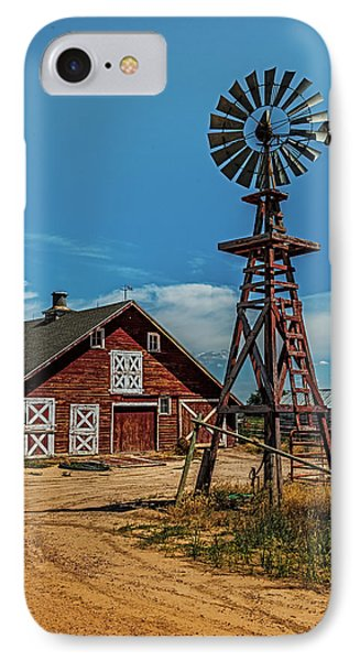 Barn With Windmill IPhone Case by Paul Freidlund