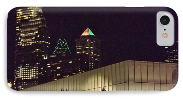Barnes Museum At Night IPhone Case by John Wartman