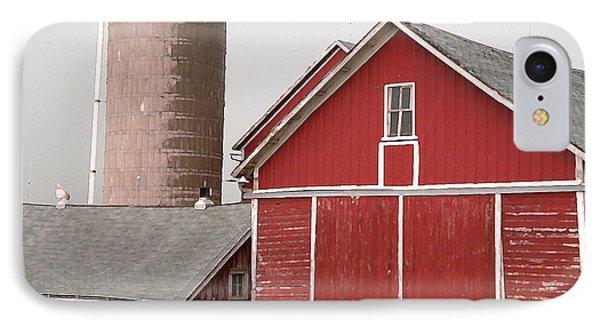 Barns And Silo Phone Case by David Bearden