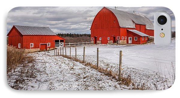 Barns Of New York IPhone Case by Everet Regal