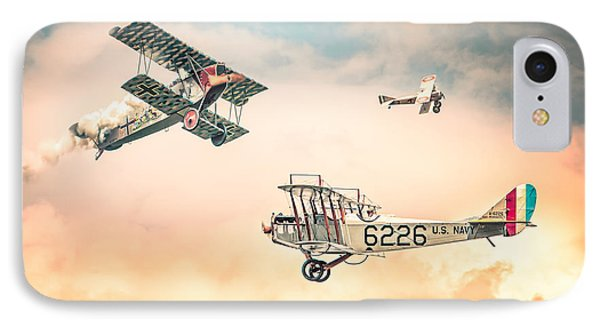 Barnstormers In The Golden Age Of Flight - Replica Fokker D Vll - Spad 7 - Curtiss Jenny Jn-4h IPhone Case