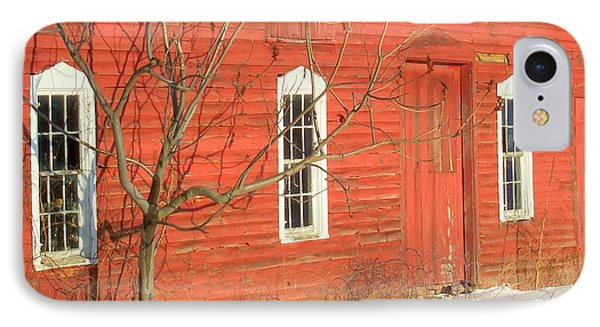 IPhone Case featuring the photograph Barnwall In Winter by Rodney Lee Williams