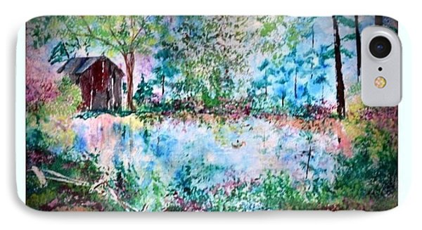 IPhone Case featuring the painting Barnyard Beautiful by Denise Tomasura