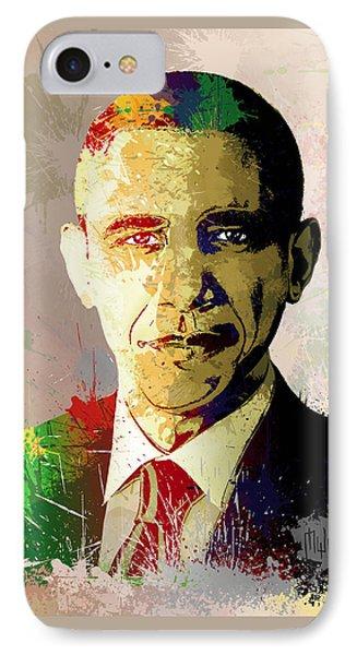 Barrack Obama IPhone Case by Anthony Mwangi