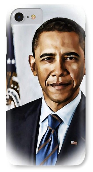 Barrack Obama IPhone Case by Tyler Robbins
