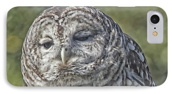 IPhone Case featuring the photograph Barred Hoot Owl Photo Art by Constantine Gregory