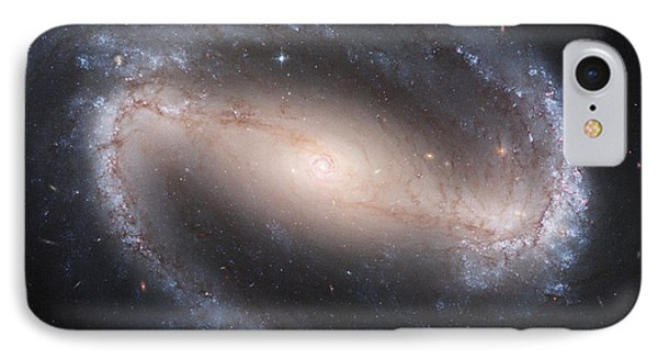 Barred Spiral Galaxy IPhone Case by Nasa