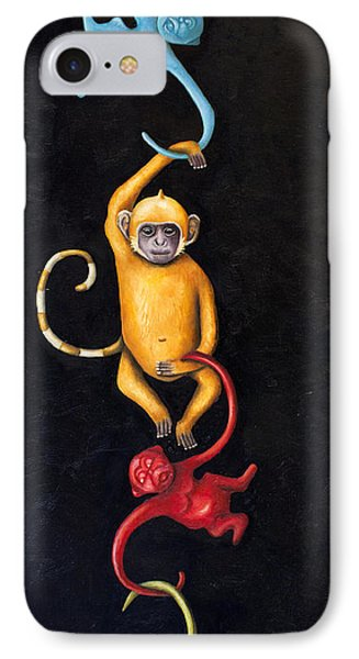 Barrel Of Monkeys Phone Case by Leah Saulnier The Painting Maniac