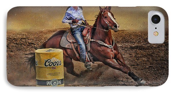 Barrel-rider Cowgirl IPhone Case
