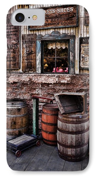Barrels And Signs IPhone Case by Ken Smith