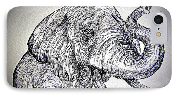 IPhone Case featuring the painting Barrito  Dell Elefante by Roberto Gagliardi