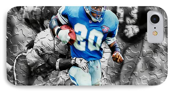 Barry Sanders Breaking Out IPhone Case by Brian Reaves