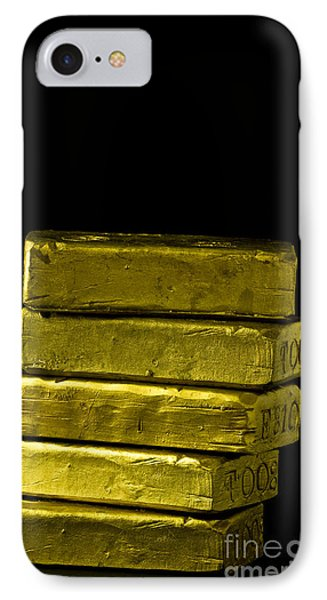 Bars Of Gold IPhone Case by Edward Fielding