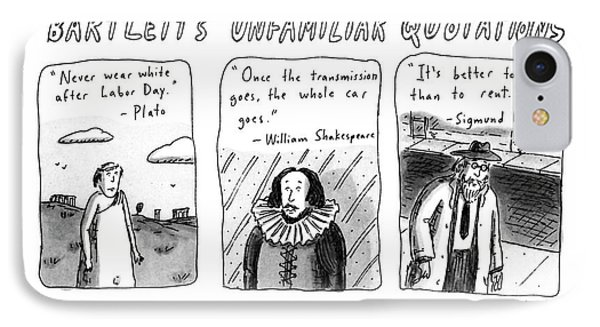 Bartlett's Unfamiliar Quotations IPhone Case by Roz Chast