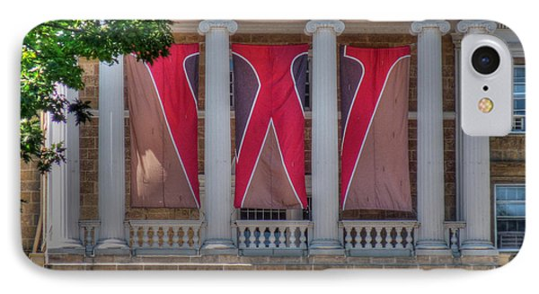 Bascom Hall-on Wisconsin IPhone Case by David Bearden