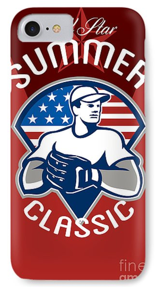 Baseball All Star Summer Classic Poster Phone Case by Aloysius Patrimonio