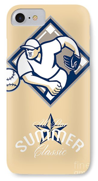 Baseball All Star Summer Classic Retro Poster Phone Case by Aloysius Patrimonio