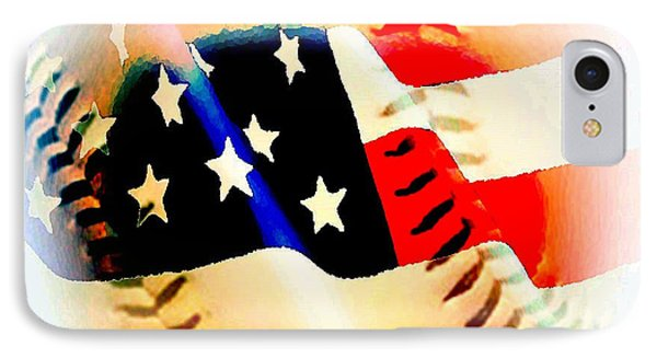Baseball And American Flag IPhone Case