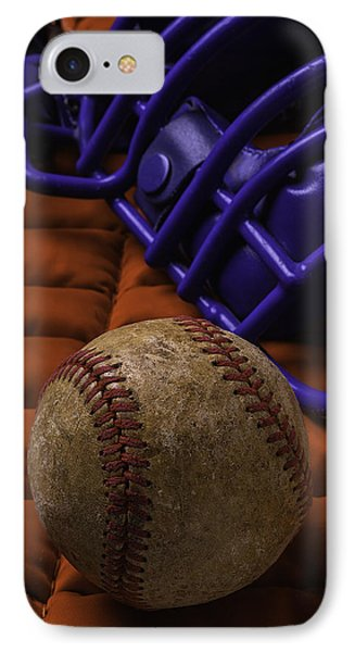 Baseball And Catchers Mask IPhone Case by Garry Gay
