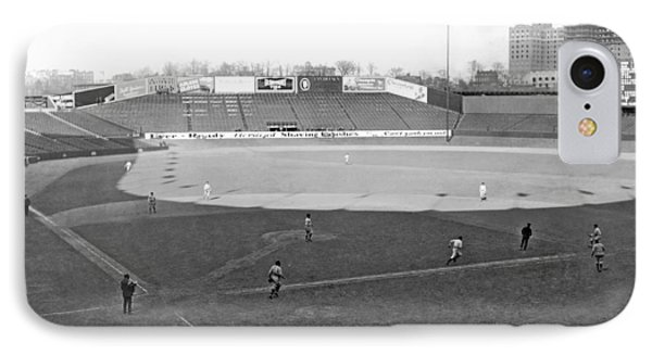 Baseball At Yankee Stadium IPhone 7 Case by Underwood Archives