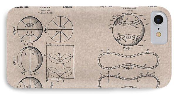 Baseball Basketball Patent Neutral IPhone Case