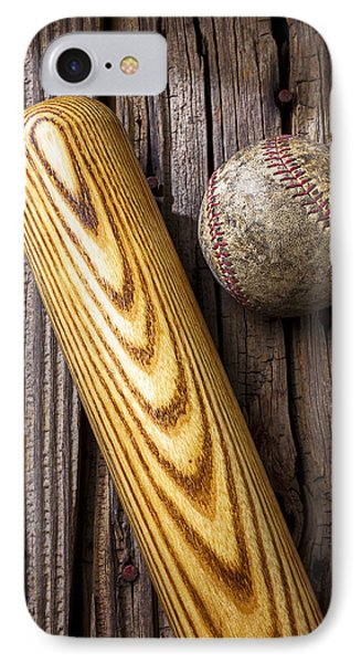 Baseball Bat And Ball IPhone Case by Garry Gay