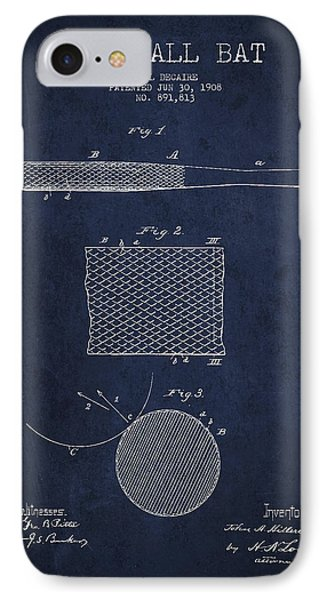 Baseball Bat Patent Drawing From 1904 IPhone Case by Aged Pixel