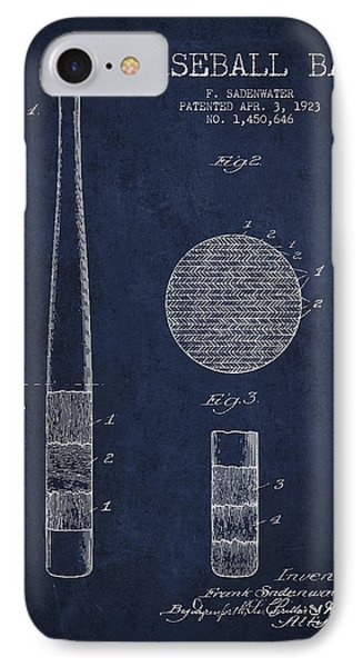 Baseball Bat Patent Drawing From 1923 IPhone Case by Aged Pixel